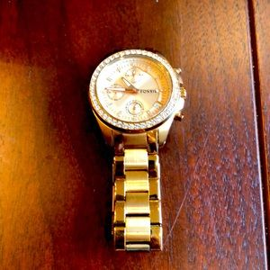 FOSSIL - watch with 3- small dials on face